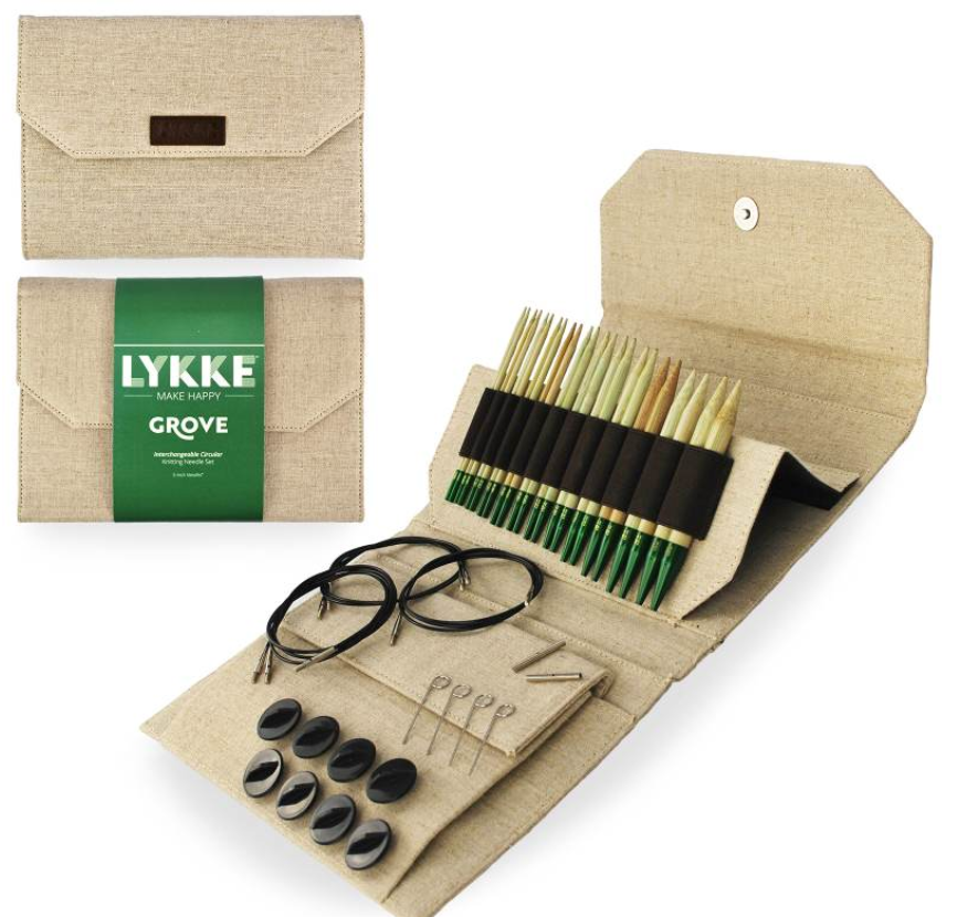 "Lykke Grove 5"" Interchangeable Circular Needle Set - theobservatory.shop Lykke - manos"