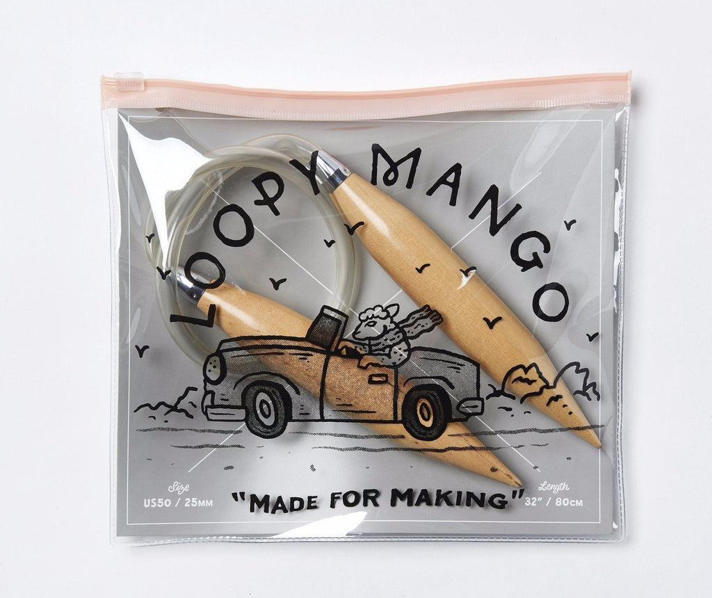 Loopy Mango size 50 Circular Knitting Needles - theobservatory.shop Loopy Mango - manos