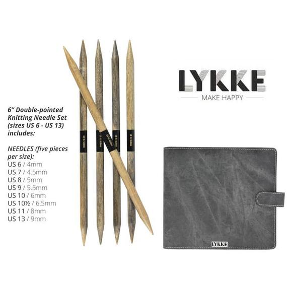 "Lykke 6"" Double Pointed Needle Set - theobservatory.shop Lykke - manos"