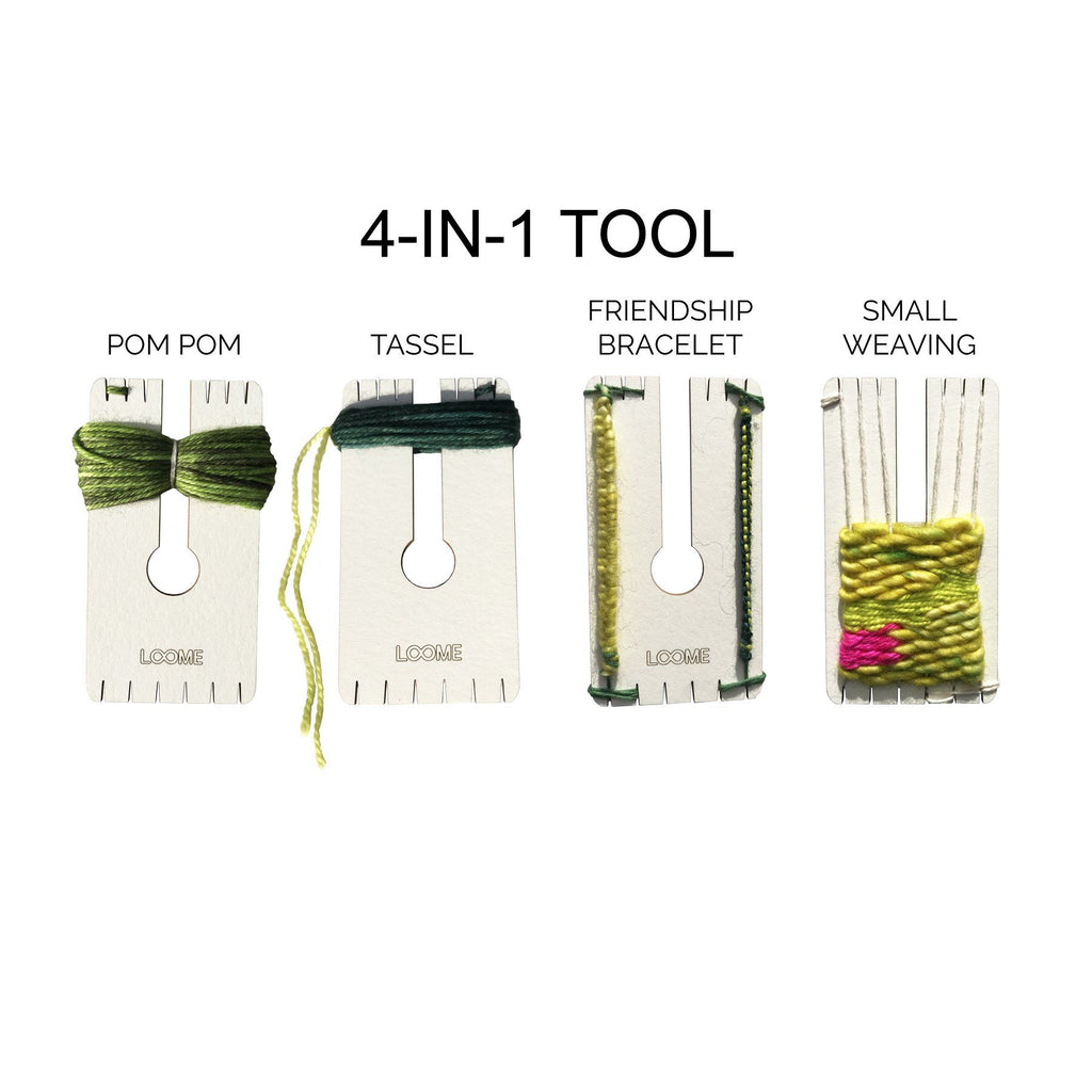 4-n-1 Paper Pom Pom Tool - theobservatory.shop Loome - manos