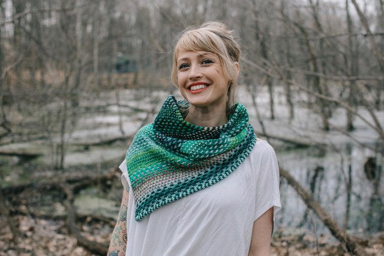 The Shift Cowl Pattern - theobservatory.shop Drea Renee Knits - manos