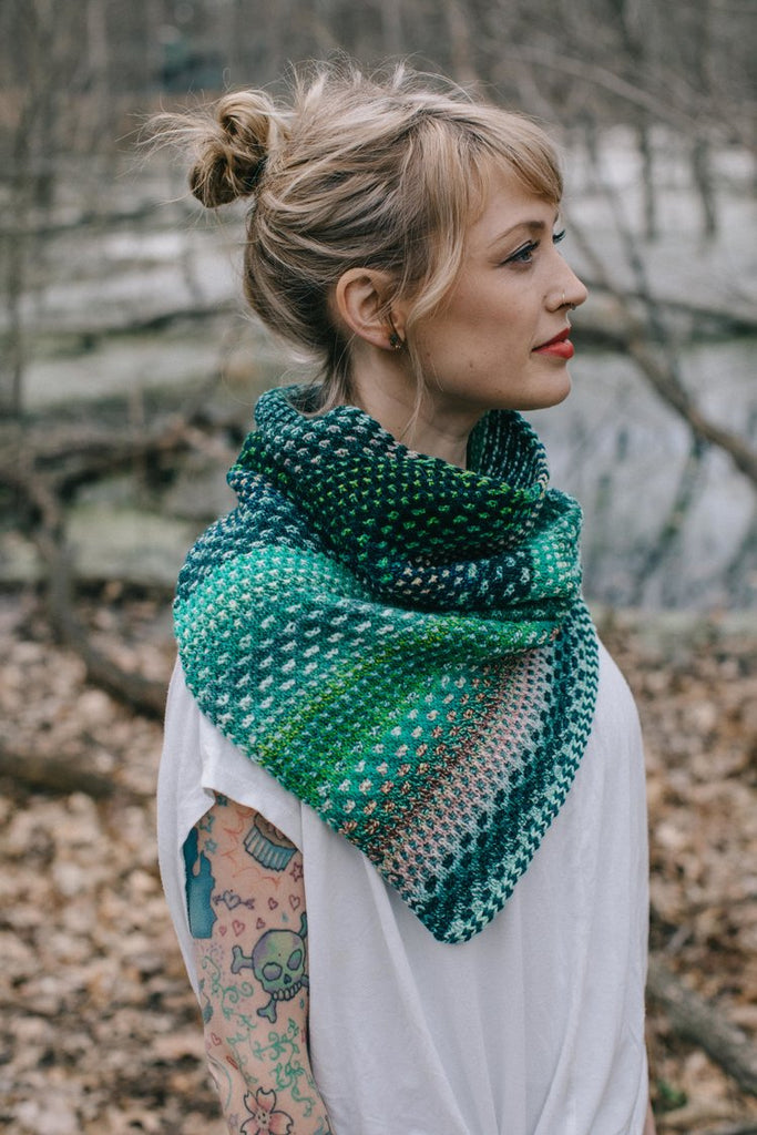 The Shift Cowl Pattern by Drea Renee Knits - theobservatory.shop Drea Renee Knits - manos