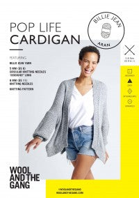 Pop Life Cardigan Pattern - theobservatory.shop Wool and the Gang - manos