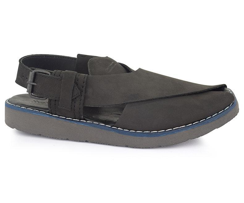 Peshawari Suede-Sandals for Men\Traditional-Black