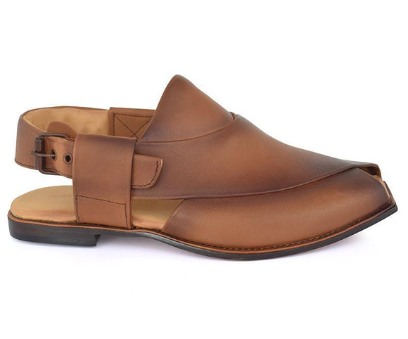 Peshawari Smart-Sandals for Men\Traditional-Tan