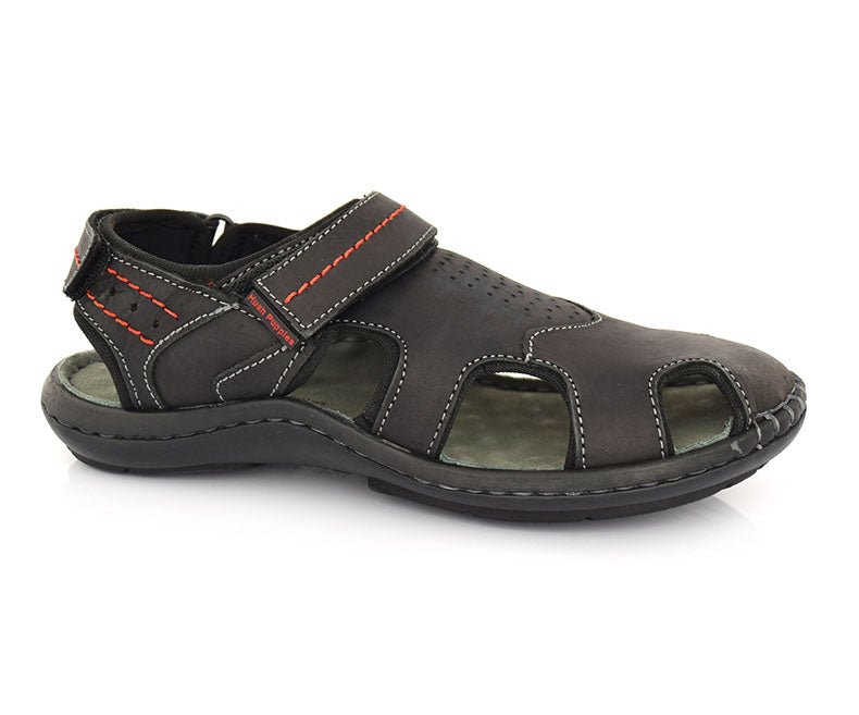 Breke - Black Sandals for Men by Hush Puppies