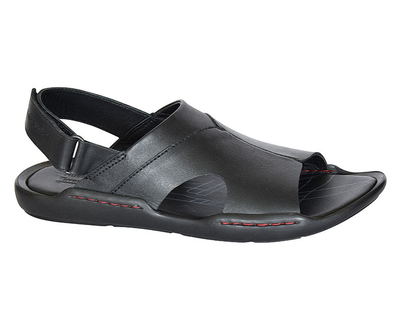 Broader Smart - black Formal Sandals for Men by Hush Puppies