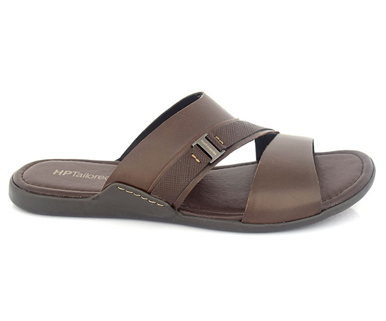 CONTEXT BEST - Chocolate Brown Stunning Affordable Slippers for Men by hush Puppies