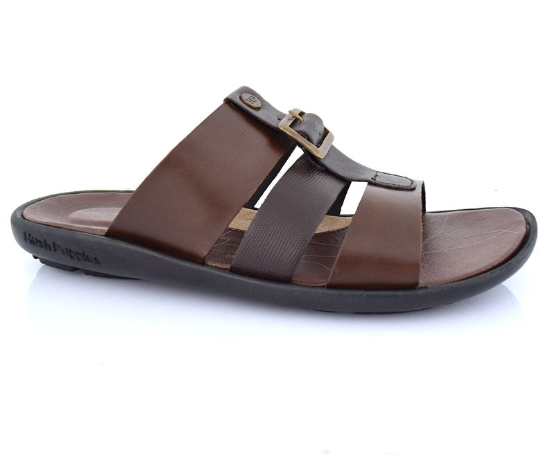 Lexicon Sleek-Slippers for Men-Choco Brown