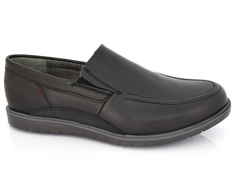 Chad Burman Flight - Black Casual Footwear for Men by Hush Puppies