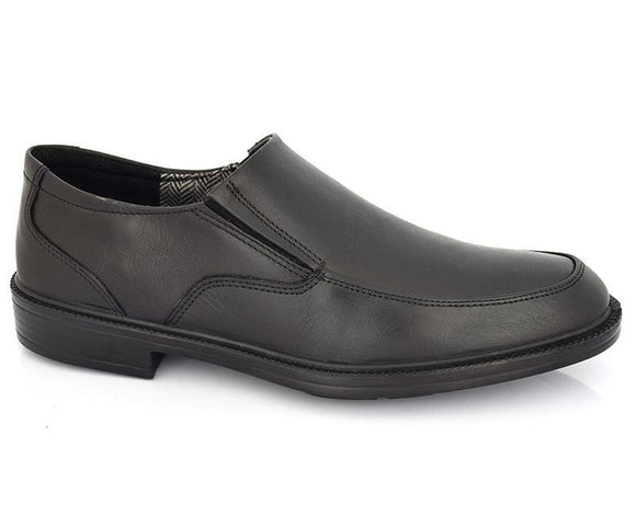 Alston Slip on - Black- Semi formal shoes for men by Hush Puppies
