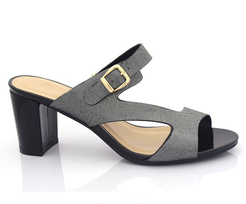 SS-HL-0063-Sandals for Women\Formal\Short Heel-Black