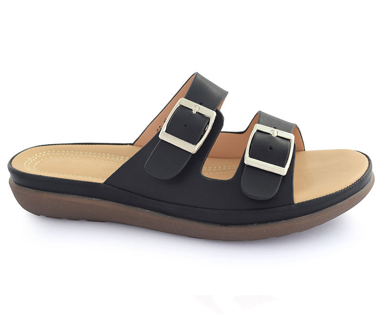 SS-SL-0045-Women's Slippers\Casual-Black