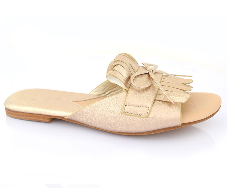 SS-SL-0047-Women's Slippers\Casual\Flat-Golden