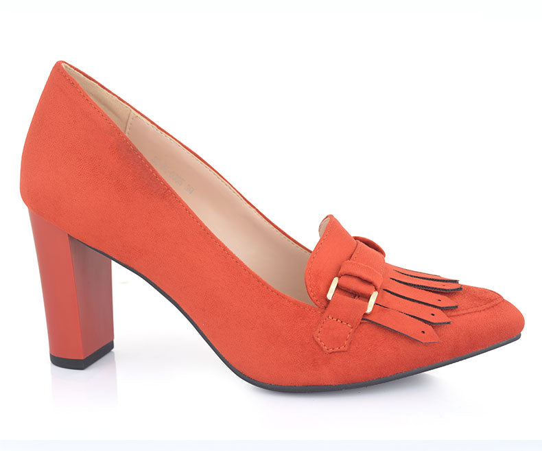 SS-HL-0085-Women's Formal Shoes\Heel Pumps-Orange
