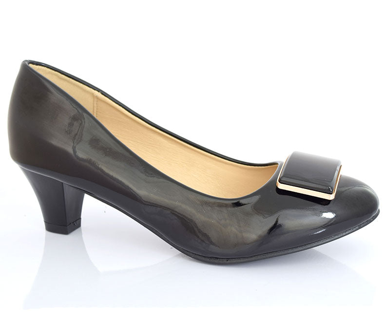SS-HL-0098-Women's Formal Shoes\Pumps-Short Heel-Black