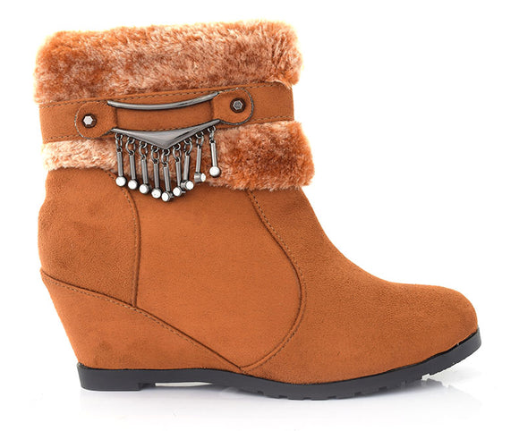SS-BT-0003-Women's Shoes\Winter Wear\Long shoes-Camel