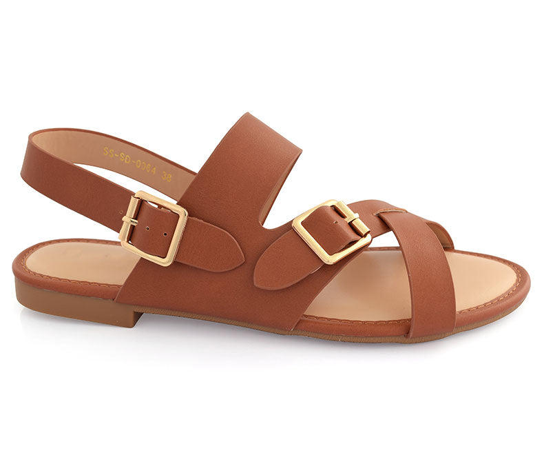 SS-SD-0064-Women's Shoes\Sandals\Casual\Flat-Rust
