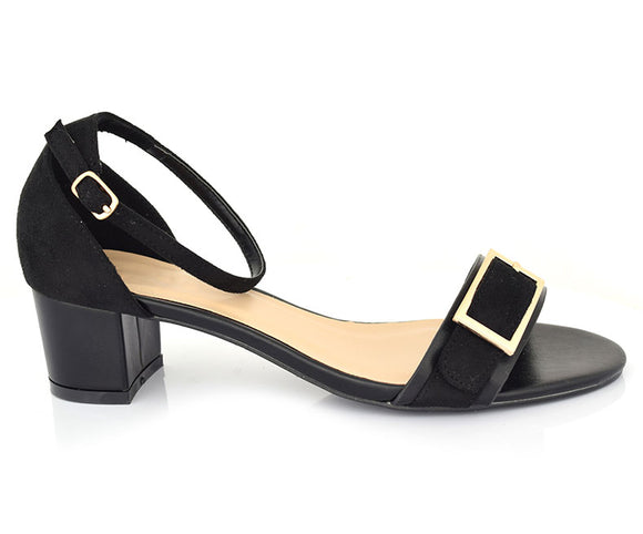 SS-HL-0106-Women's Sandals\Casual\Block Heel-Black