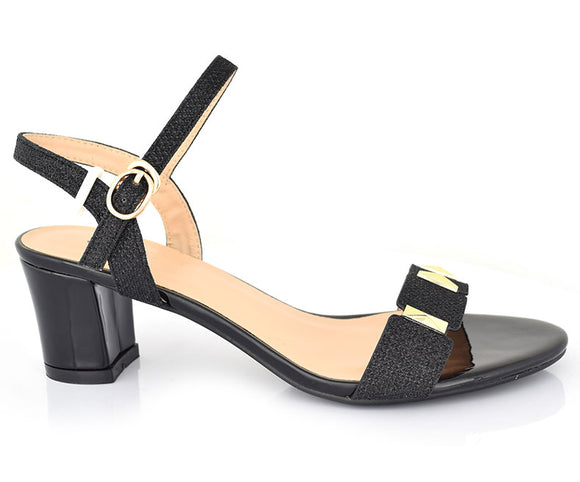 SS-HL-0107-Women's Sandals Casual\Semi Formal\Block Heel-Black