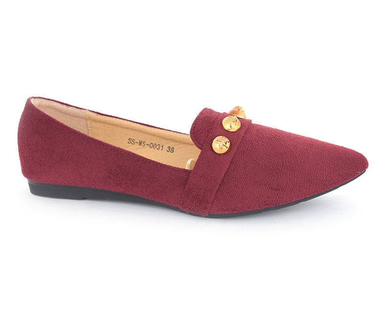SS-MS-0031-Women's Shoes\Formal\Pumps-Velvet-Maroon