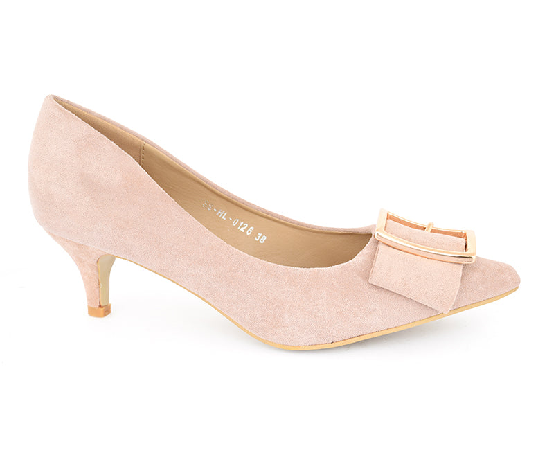 SS-HL-0126-Women's Shoes\Formal\Courts\Kitten Heel-Beige