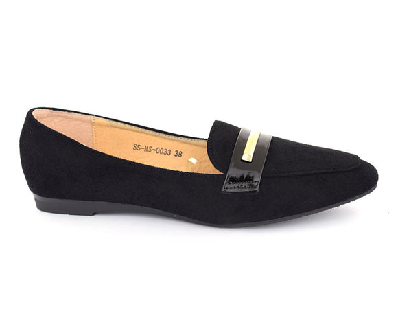 SS-MS-0033\Footwear for Women\Formal\Velvet\Pumps-Black