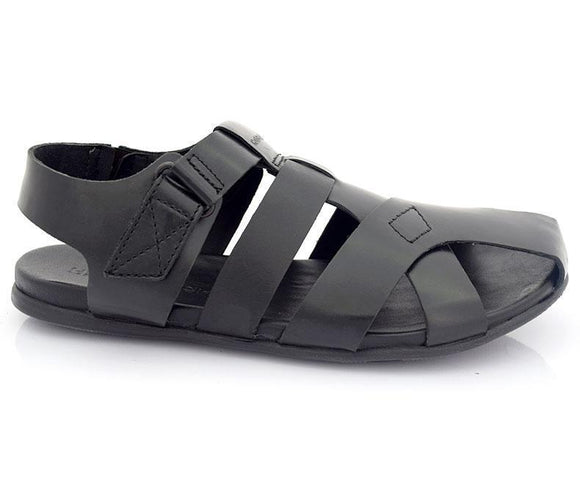 HUBER Wilton-Sandals For Men-Black