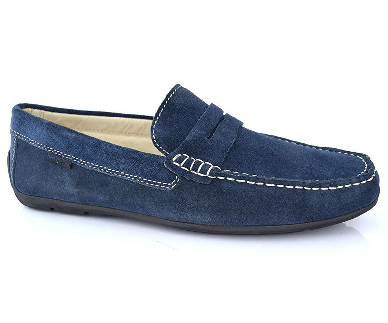 Cool walk- Navy Colored Pleasant Stunning Moccasins for Men by Hush Puppies