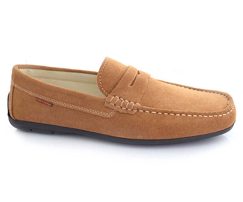 Cool walk- Tan Pleasant Stunning Moccasins for Men by Hush Puppies
