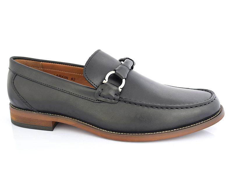 LARKIN-Formal Footwear for Men\Moccasins-Black
