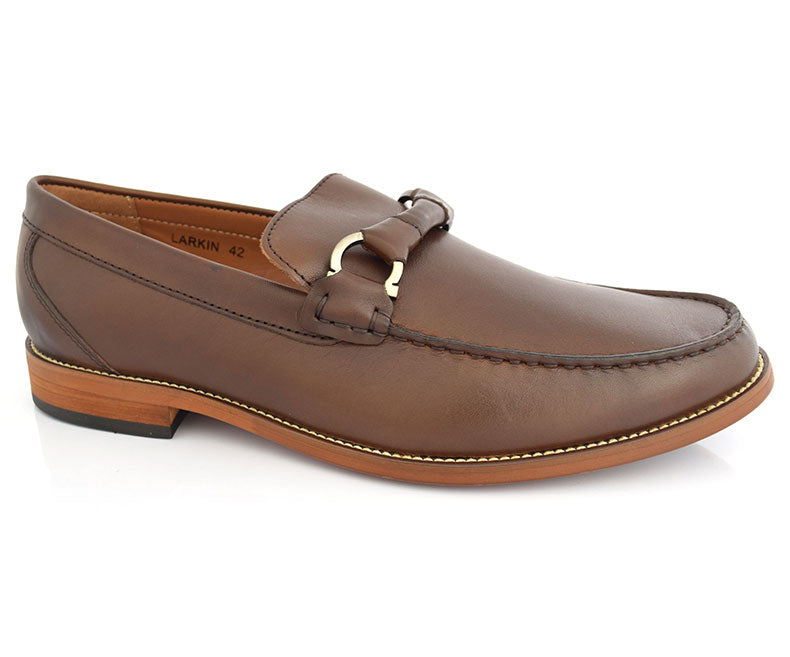 LARKIN-Formal Footwear for Men\Moccasins-Coffee