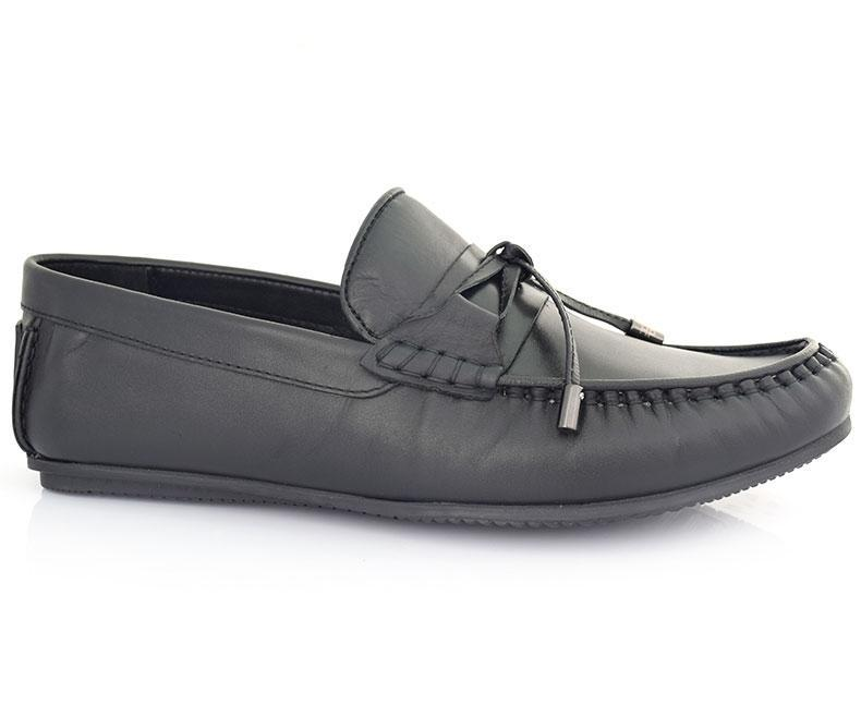 MAIN STREET-Men's Casual Shoes\Moccasins-Black