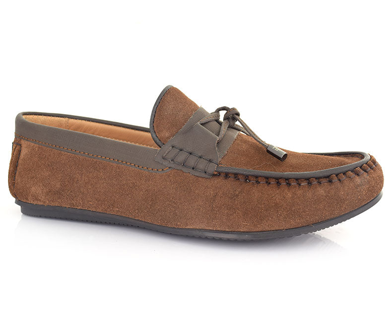 MAIN STREET-Men's Casual Shoes\Moccasins-Brown