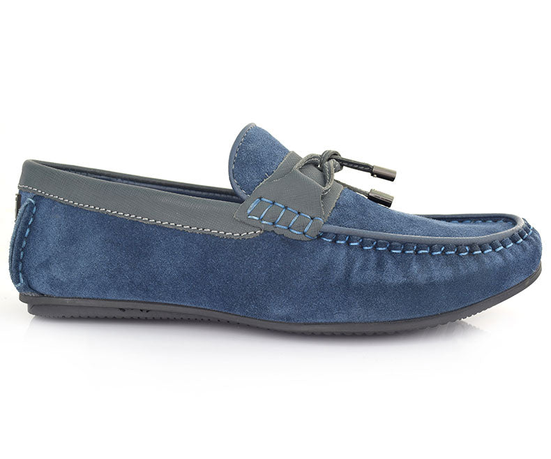 MAIN STREET-Men's Casual Shoes\Moccasins-Blue