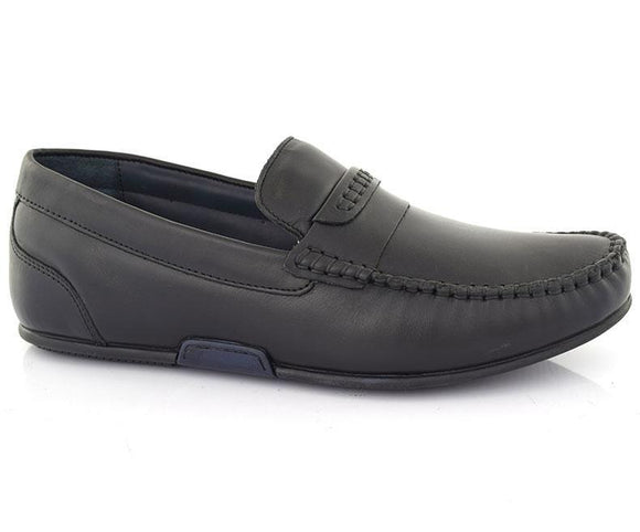 Jacoob CM-Men's Formal Footwear\Moccasins-Black