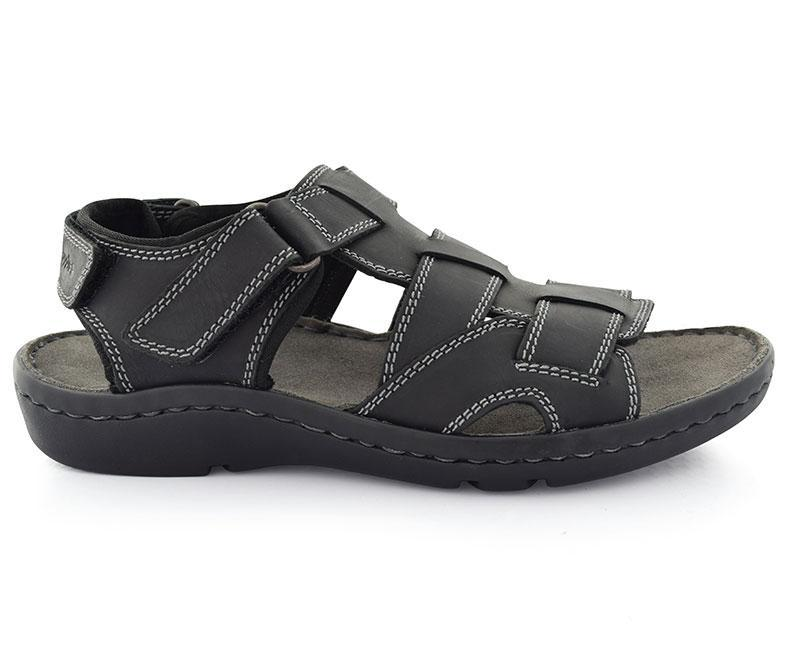 COLSON PONTING - Black Elegant Sandals for Men by Hush Puppies