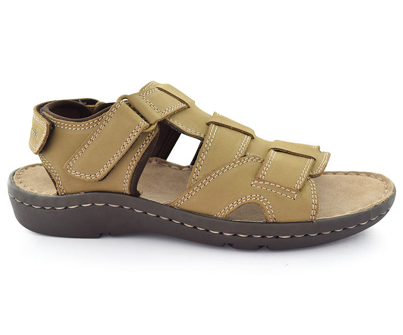COLSON PONTING - Soya Sauce colored Elegant Sandals for Men by Hush Puppies
