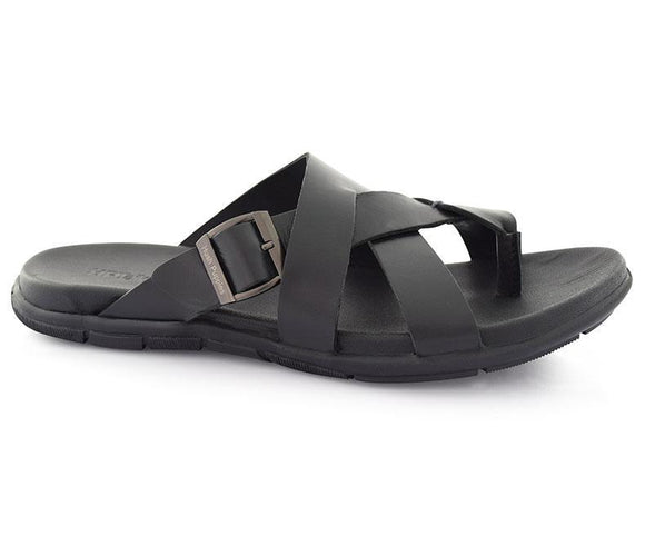 Black Slippers for Men
