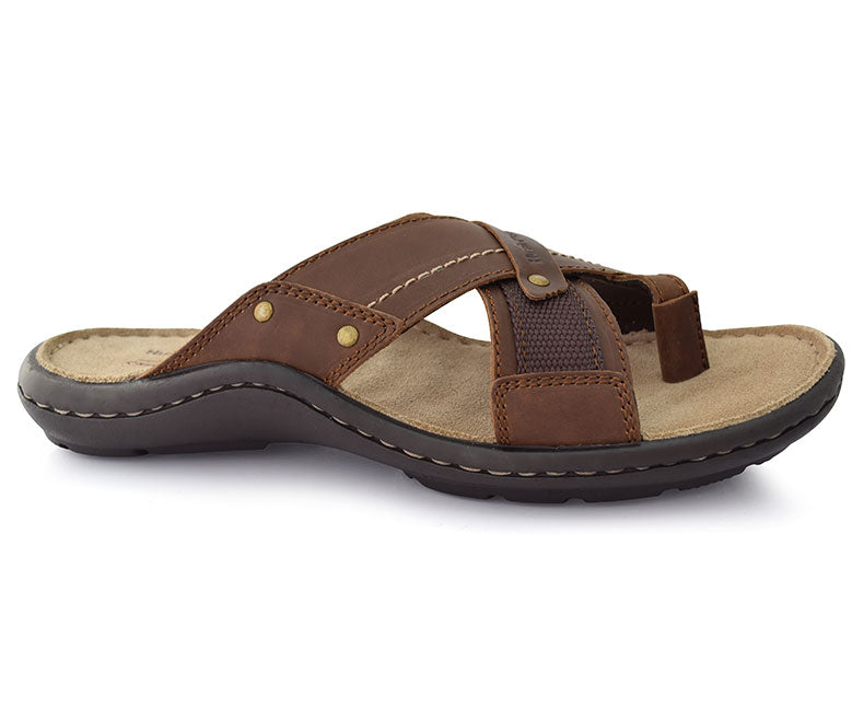 Gerald Pioneer Slippers for Men-Brown