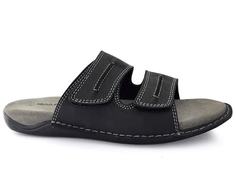 Black Conventional Slippers for Men