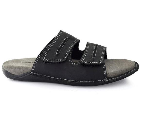 Byron Grady- Black Conventional Slippers for Men by Hush Puppes