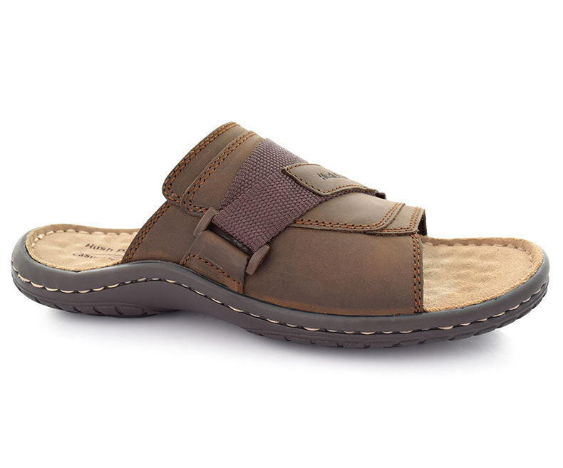 Amos Bernard - Brown Deep comfort sippers for men by Hush Puppies
