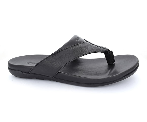 Thong Reox - Black Comfortable Slippers for Men by Hush Puppies