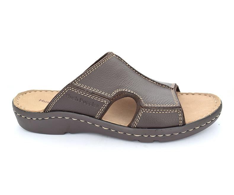 Brade Ponting - Brown Comfortable Slippers for Men by Hush Puppies