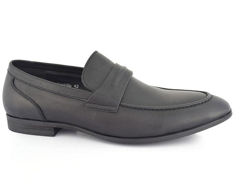 Castillo - Black Comfortable Modern Moccasins for Men by Hush Puppies