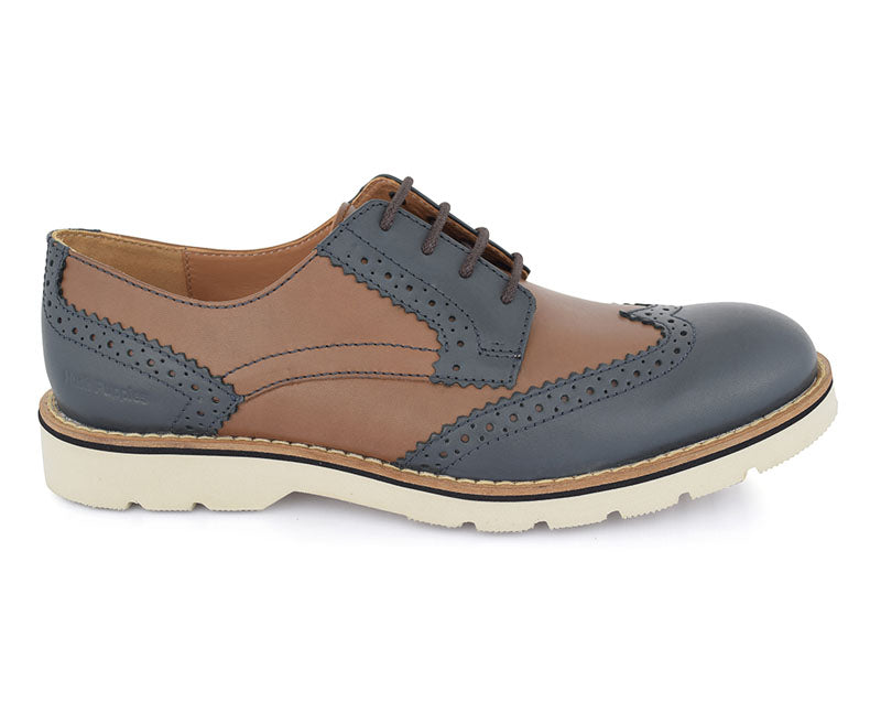 Navy/ Brown Athleisure Shoes for Men by Hush puppies