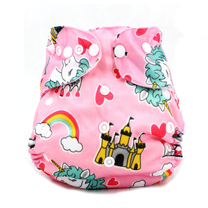 5PCS CLOTH DIAPER WITH COTTON TERRY INSERTS