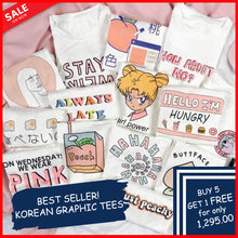 Load image into Gallery viewer, KOREAN GRAPHIC TEES
