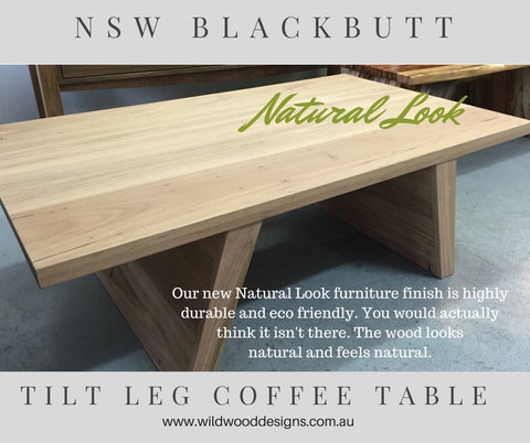 Raw look Light Timber Blackbutt stylish Coffee Table by Wildwood Design Sydney